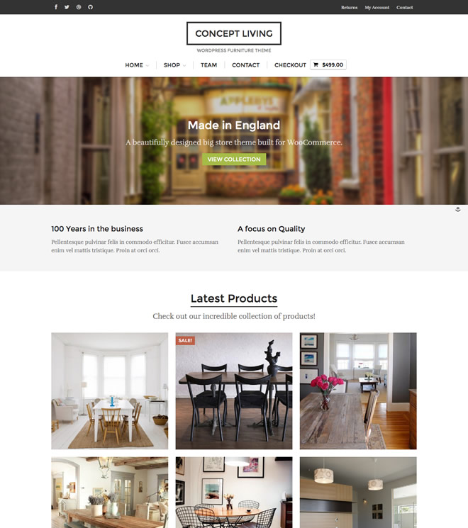Concept Living Home Page